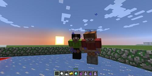Minecraftでスケート2013-03-30
