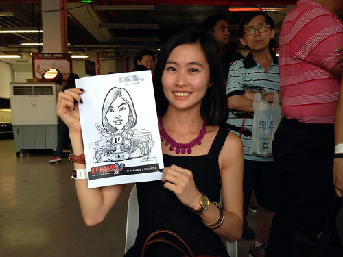 caricature live sketching for NTUC U Grand Prix Experience 2013 - 10