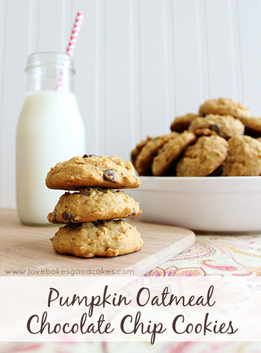 Pumpkin Oatmeal Chocolate Chip Cookies 2