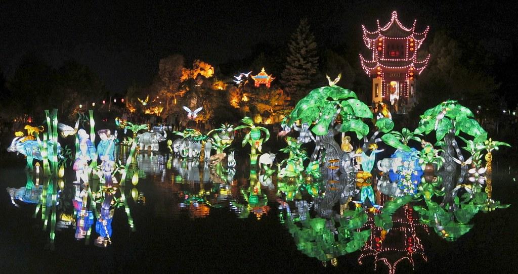 Montreal botanical gardens.Chinese lantern festival