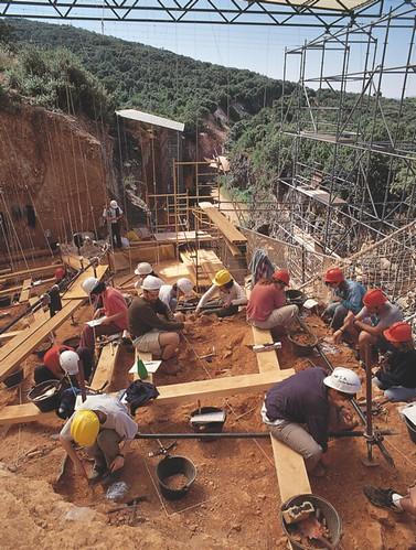Trabajos arqueológicos.