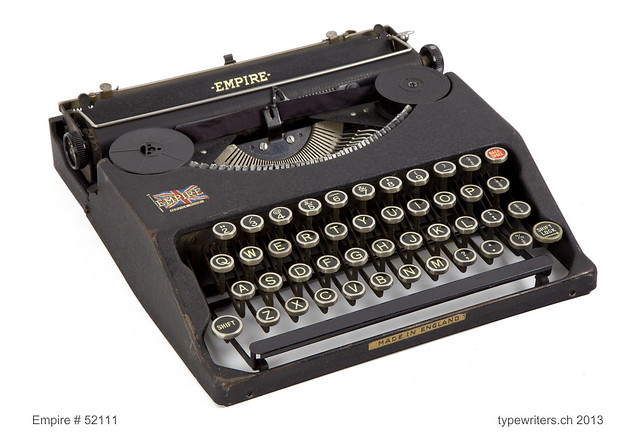 Empire portable typewriter