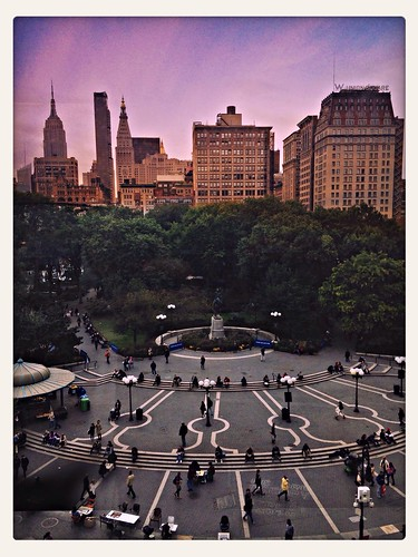 Looking Out over Union Square