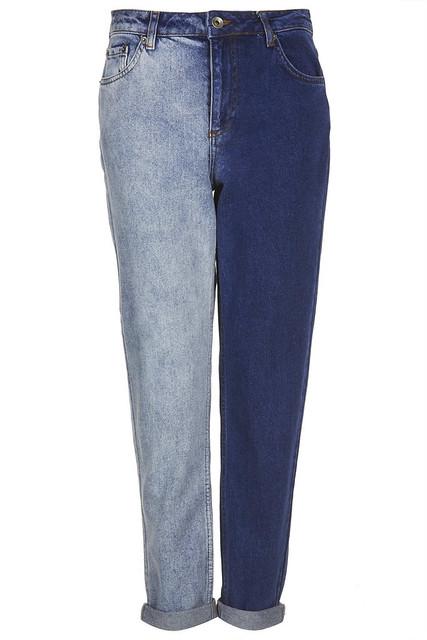mom jeans bicolor