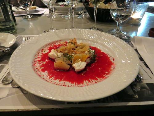 Nimb Brasserie - Entrada vegetariana, com legumes e trufas brancas