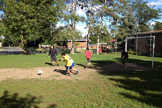 neighbourhood soccer game
