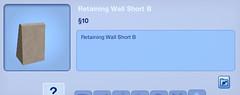 Retaining Wall Short B