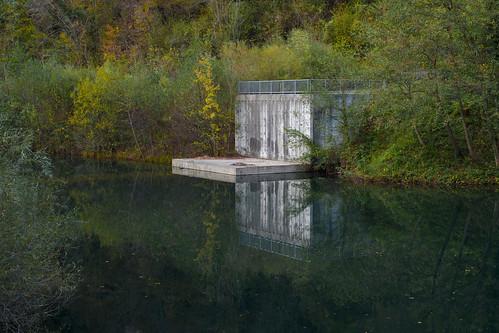autumn fall nature water dam slovenia autunno tolmin pri sela volčah