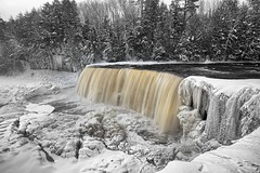 Winter at Tahquamenon Falls, Upper Michigan by Michigan Nut