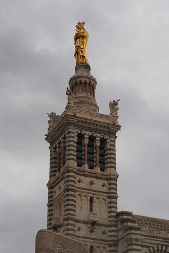 The top of the Basilica Notre Dame de la Garde