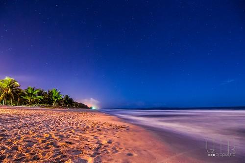 sea beach night strand stars noche mar sand meer wasser fuck nacht honduras playa el palmeras arena plantation noite shores 504 hn fotografo nocturno tela matamoros steren guni tornabé propuestagmr