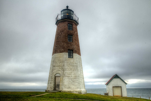 POINT JUDITH LIGHTHOUSE Rhode Island - C by Rob Vazquez