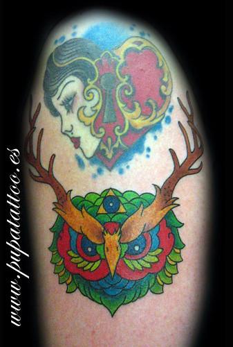 Tatuaje buho, Pupa Tattoo, Granada by Marzia PUPA Tattoo