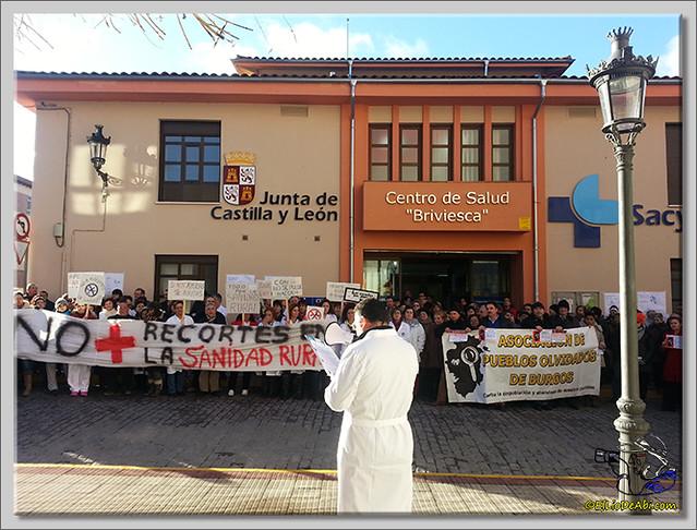 6 Concentración en Centro de Salud Briviesca