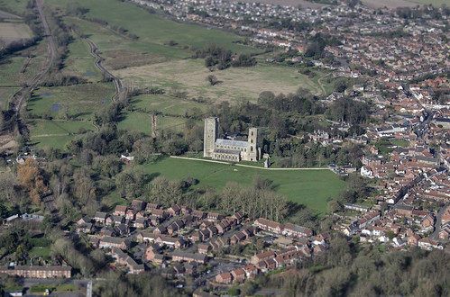 england church abbey norfolk aerial monastery benedictine wymondham