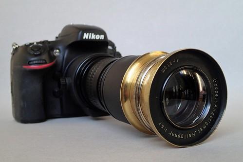 Rodenstock (München) Doppel-Anastigmat Heligonal f/5.7 21cm on Nikon D800