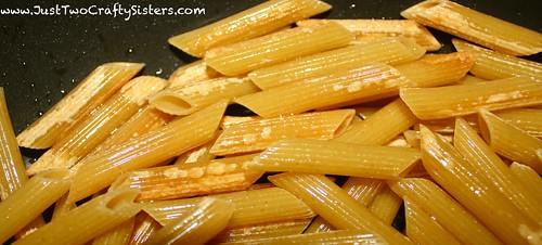 Skillet penne pasta