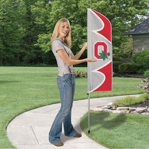 Ohio State Short Feather Flag