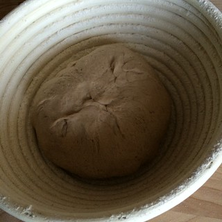 栗粉のカンパーニュ二次発酵前