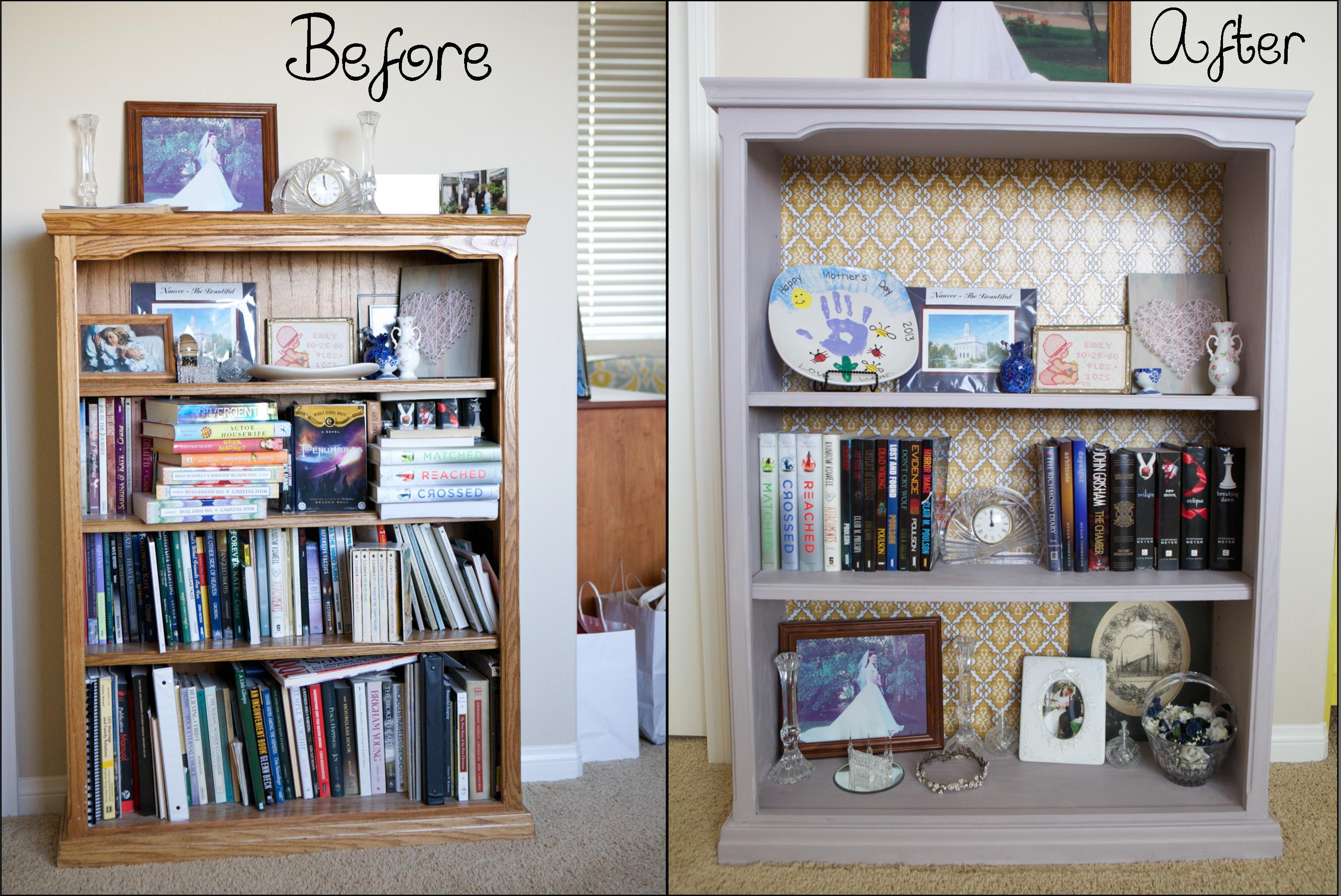 painting a bookshelf