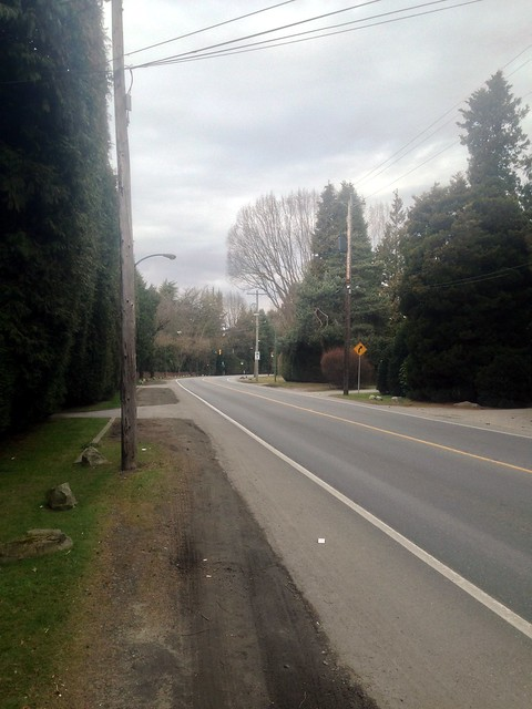 No Sidewalks on SW Marine Drive