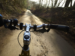 Riding Down an Sunken Lane