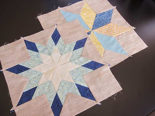 Hand pieced Star Sampler Blocks 1 & 2