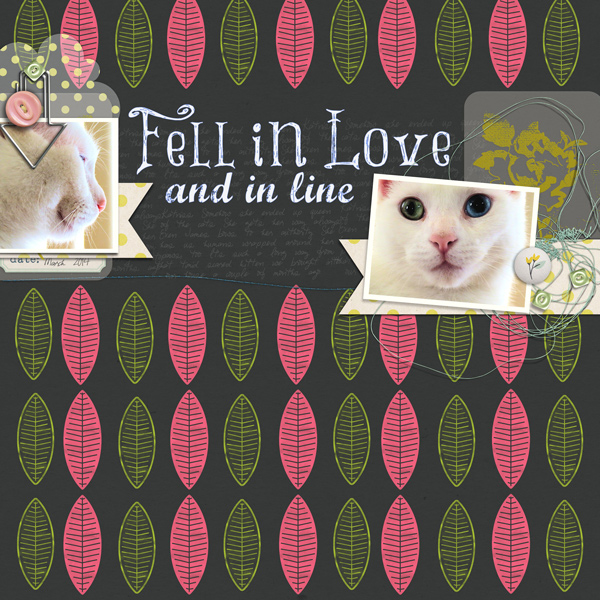 Fell in Love by Carrie Arick ( Created For: Get It Scrapped: Linocut Look)