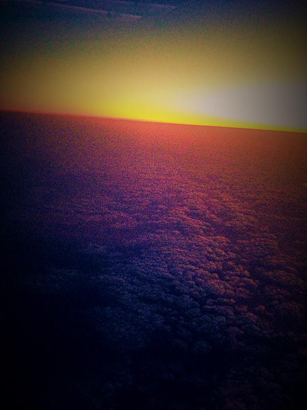 Sunrise over Hong Kong During Flight (iPhone)
