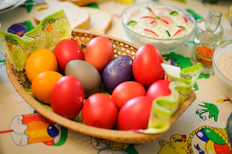 Oua de Paste. Colored Easter Eggs in Romania