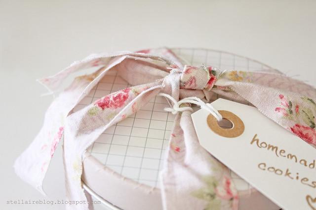 floral fabric ribbon