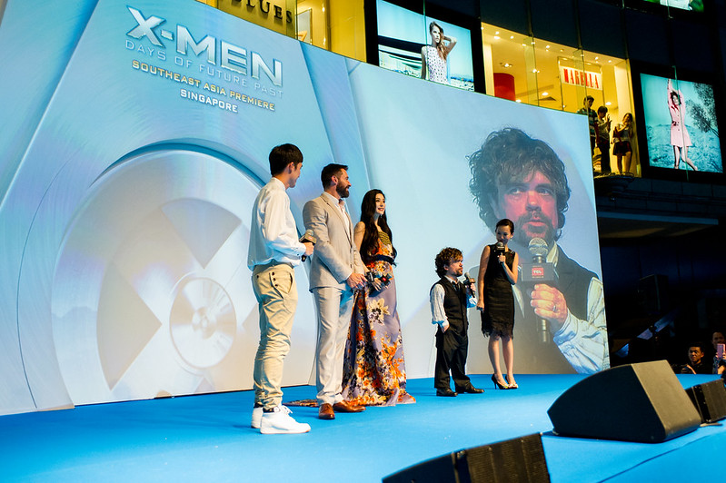 Blue Carpet - Hugh Jackman, Fan Bingbing & Peter Dinklage