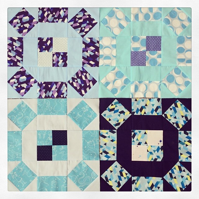 Yay! Baby quilt in a day! This block goes together so fast!  Love this @thimbleblossoms pattern!