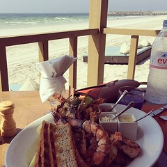 Pure positive energy #sea #ajman #lobster #grilled #seafood #fish #monday #positive #energy #breeze #bellastoria #beauty #estate #wonderful #blue #nonunanuvola