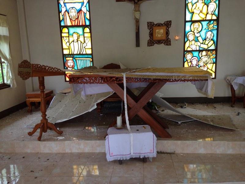 หลังเกิดเหตุแผ่นดินไหว ที่หอพักนักเรียนบ้านห้วยส้าน อ.แม่ลาว
