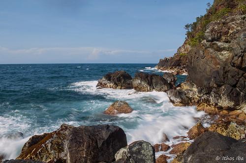 beach rock papua jayapura pasirenam
