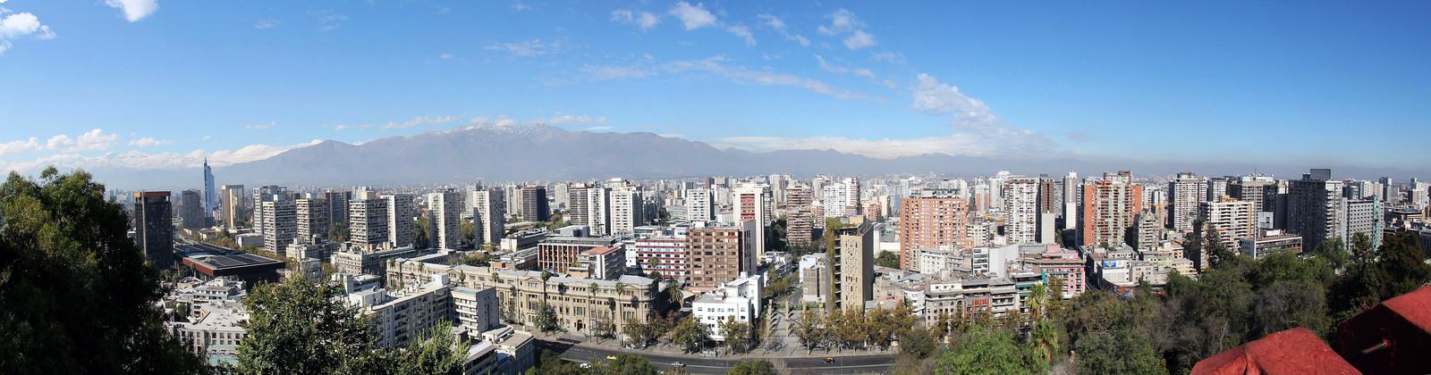 santiago skyline panorama