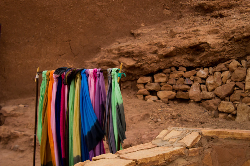 spot of colour in Ait Benhaddou