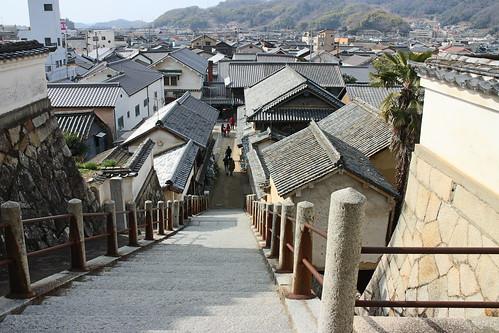 広島県竹原市 西方寺山門 階段