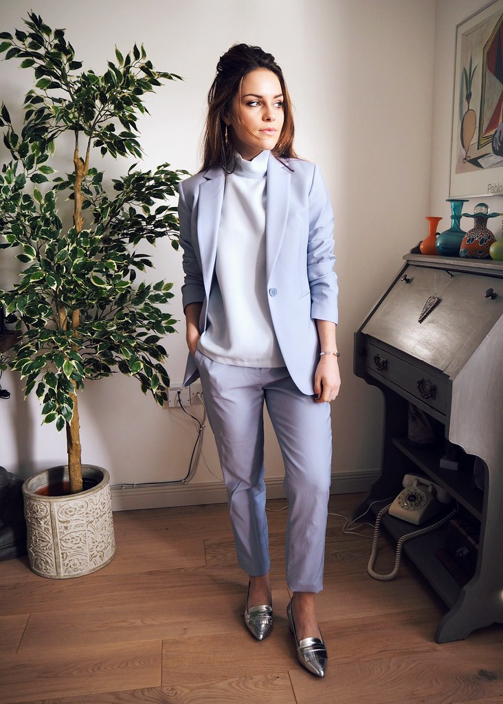 Reiss powder blue suit 1