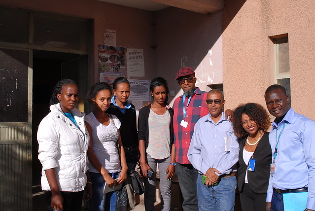 Group photo at Addis Ketema Youth Centre with visitors from UNICEF Chad.