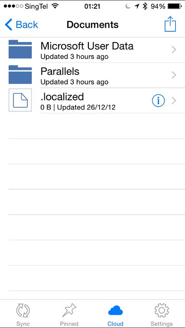 Acronis True Image - iOS App - Documents