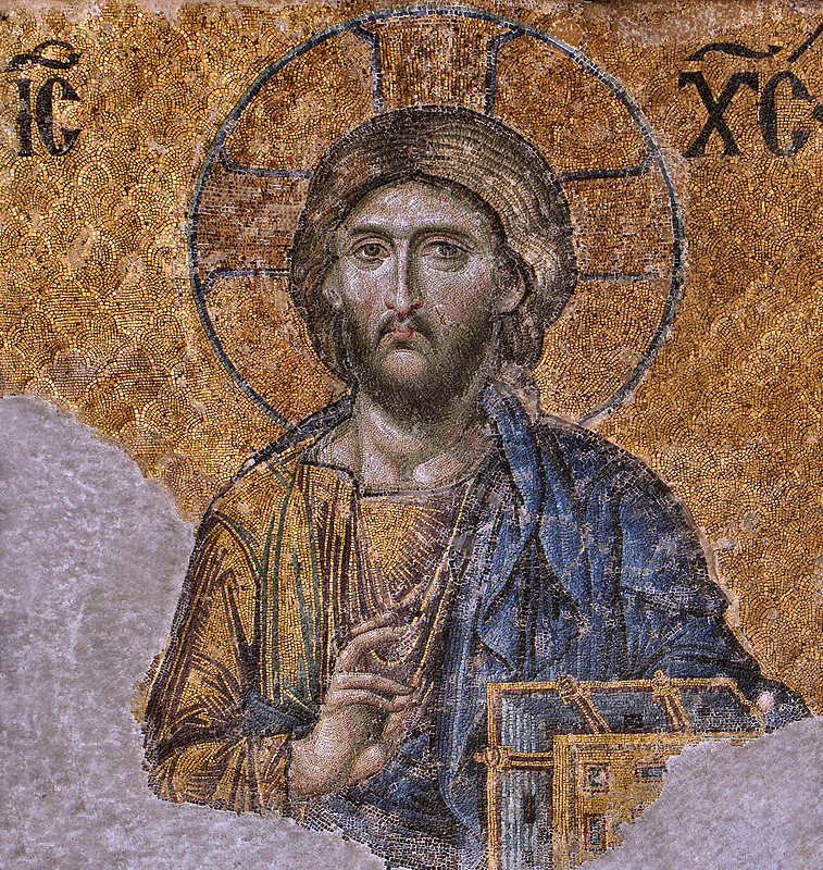 Marvelous mosaic of Christ Pantocrator from the Hagia Sophia
