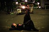 Fire spinning in London