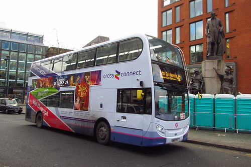 Enviro400 First Greater Manchester, SN14 TTU, Piccadilly Gardens, Manchester