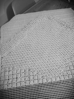 Needlepoint rug in progress