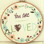 You are Loved Hoop Art