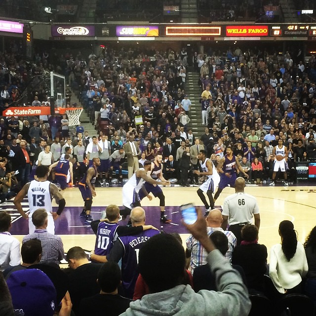 Kings 85, Suns 83 with Sharon, Jack and Bridget