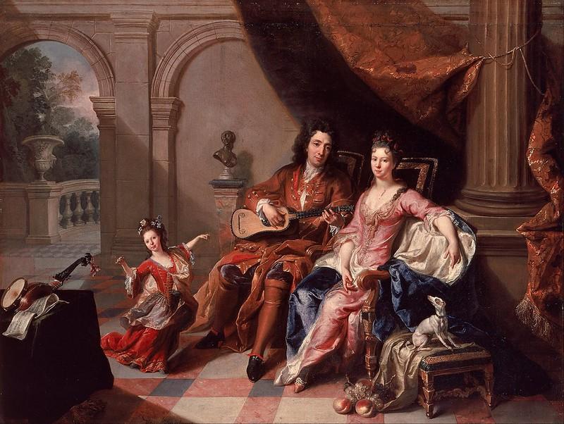 Jacob van Schuppen - The Guitar Player (c.1700)