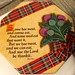 The Selkirk Grace on the Shortbread box
